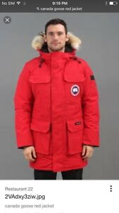 Red Canada goose jacket size xl for 200