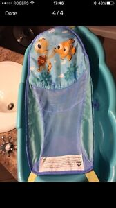 Infant to Toddler tub with removable (and washable) sling