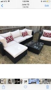 Brand new Patio set sofa and arm chair and table ratran