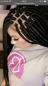 Tresses africaines et pose cheveux humain