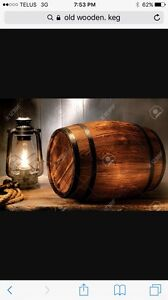 Wanted Vintage wooden keg small