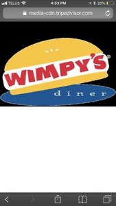 Wimpys diner - hostess part time