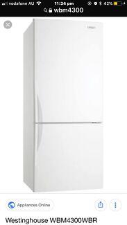 Westinghouse upside down fridge white 430L