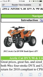 Arctic Cat Youth Quad 2012