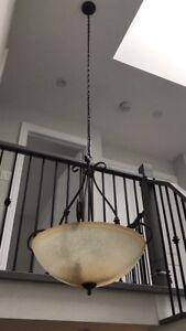 Chandelier brown black beige lamp light