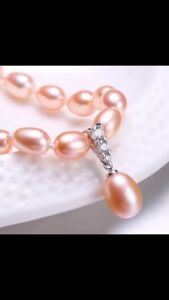 Real fresh water pearls with sterling silver