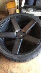 "24"" dub baller rims and tires 6x139.7"