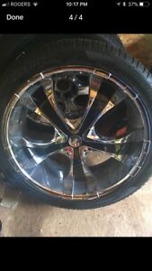 """24"""" 6  bolt universal rims came off Chevy/gmc"""
