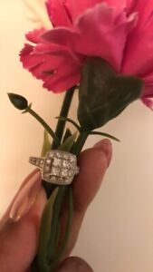 Diamond cluster engagement ring from Micheal Hill