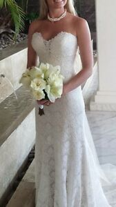 Allure bridal wedding dress and veil