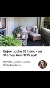 Short-term furnished rental- private :Locke St. Apt in Hamilton