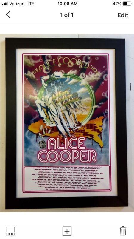 Alice Cooper Billion Dollar Babies Framed Concert Poster