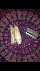 Size 10 flats/ and clutch LIKE NEW