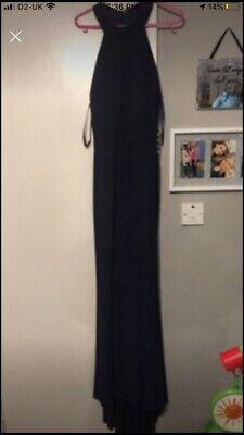 Navy Halterneck Prom Dress Size 12
