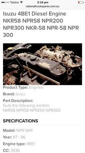 Isuzu npr 87-96 4BE1 engine parts see add Raceview Ipswich City Preview