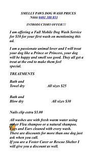 Mobile dog wash - Smelly Paws Dog Wash Alexandra Hills Redland Area Preview