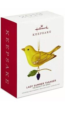 Pre-Order 2019 Hallmark The Beauty of Birds Lady Summer Tanager Ornament