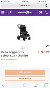 2017 city select Lux Stroller