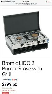 Lido Junior Deluxe 2 Burner with Grill Cooker Camping NEW Bli Bli Maroochydore Area Preview