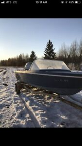 16' Fibreglass Boat with Motor and Trailer