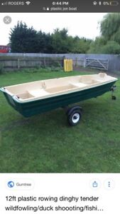 Plastic jon boat not my picture it's the same comes with 6hp