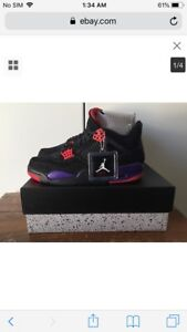 NEW Nike Air Jordan Retro 4 IV NRG Raptors $360 Sz.10