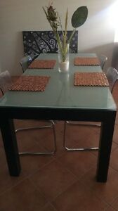 Glass top dining table Mindarie Wanneroo Area Preview