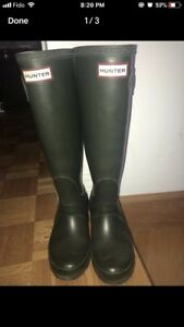 Forest green hunter boots size 5 fits like size 6