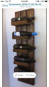 Pallet Wine Shelf 6 bottle