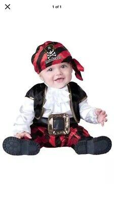 Cap'n Stinker Pirate Halloween Costume (Euc!!! CAP'N STINKER COSTUME SIZE 12/18 Months Infant Baby Pirate Halloween)