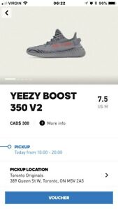 Size 7.5 & 10 available yeezy beluga v2