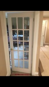 3 FRENCH DOORS WITH BEVELED GLASS!