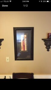 African lady framed picture