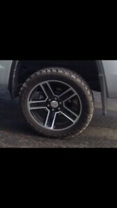 "4 -22"" GMC Sierra rims and tires"