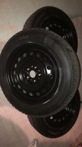 Hankook Snow Tires 90% tread