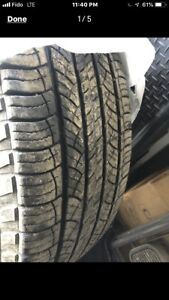 4 Michelin Tires 265 70 18 with 80% Tread Remaining