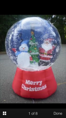 Christmas Santa,snowman,tree 6.5 Ft Animated Snow Globe Airblown Inflatable
