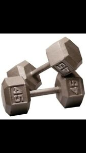 wanted 45 pounds dumbells and uo