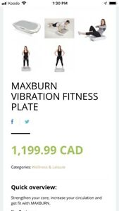 Vibration plate Maxburn IT
