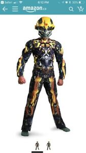 Transformers Bumblebee Boy's Muscle Chest Costume - (size 7-8)