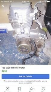 125 Baja dirt bike motor