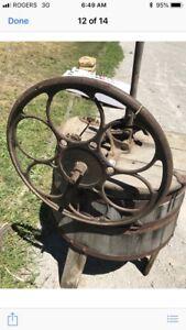 Old wooden washing machine