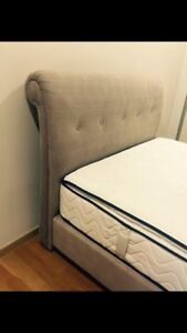 Queen size upholstered bed head