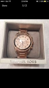 New Michael Kors Rose Gold Watch Brand New in Box With MK Bag