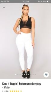 Fashion nova white leggings