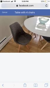 Eames Style Chairs in Grey Fabric & Oak Legs