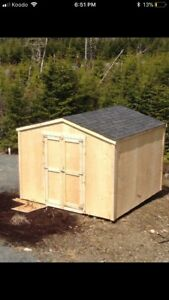 Garden sheds/ baby barns built on site in a day. 8x8 for 1300!