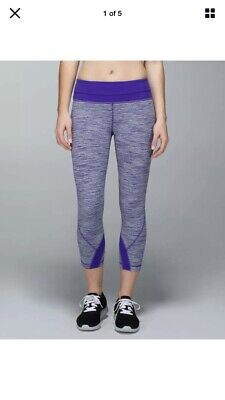 Lululemon Inspire Crop ll Wee Are From Space Bruised Berry Size 2
