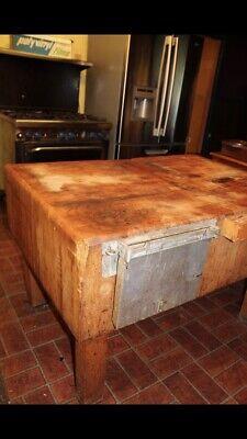 1900 1950 Antique Butcher Block Table Vatican