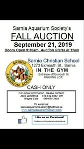 Sarnia Aquarium Society Fall Auction